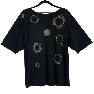 Vintage Victoria Harbor Beaded Oversized T-Shirt